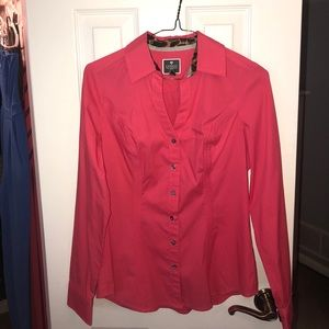 Express, Pink Essential Shirt, Button Up